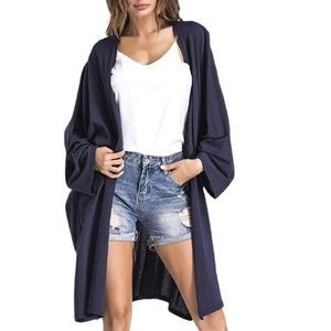 New! Women's Open Oversized Cardigan Size S-XL